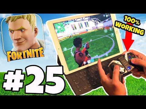 FORTNITE MOBILE WITH A CONTROLLER - *100% WORKING WORLD FIRST* | Fortnite IOS/Android App Part 25