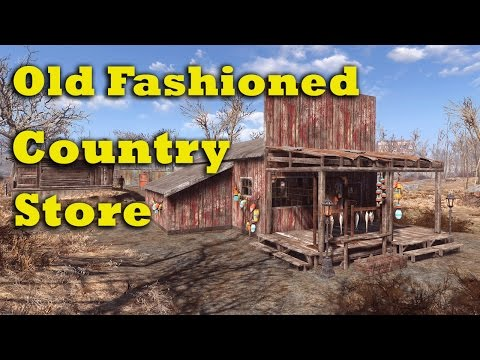 Fallout 4 Let's Build: An Old Fashioned Country Store (PS4 No Mods)