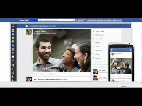 Facebook new look and features - 2013
