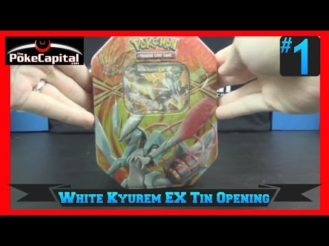 Opening A Pokemon White Kyurem EX 'Best of' Tin with 4 Plasma Packs