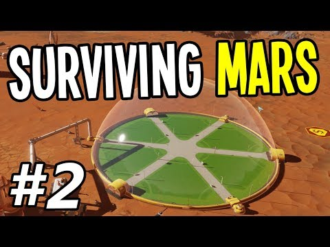 Surviving Mars - Building our First Habitation Dome!! - Surviving Mars Gameplay Playthrough - Ep. 2