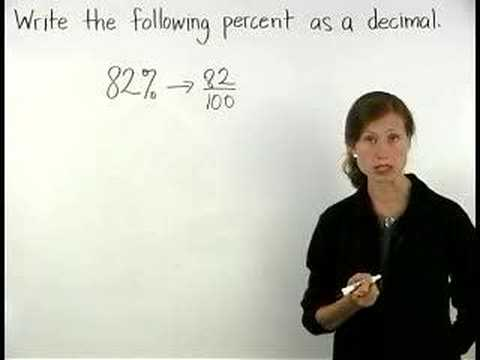 Percent to Decimal - MathHelp.com - Math Help
