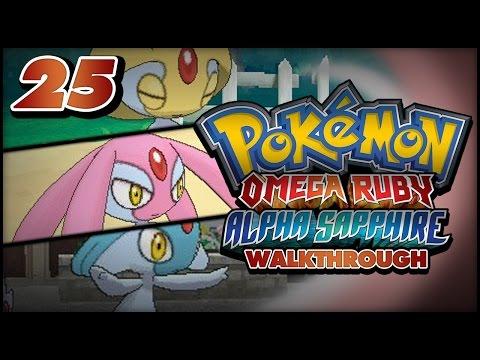Pokémon Omega Ruby and Alpha Sapphire Walkthrough - Part 25: Uxie, Mesprit and Azelf!