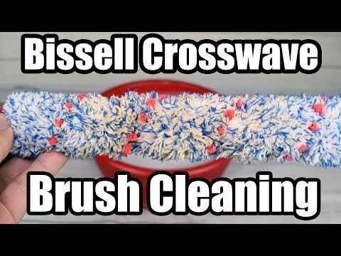 How To Clean Bissell Crosswave Brush Roll - Test - Oxyclean
