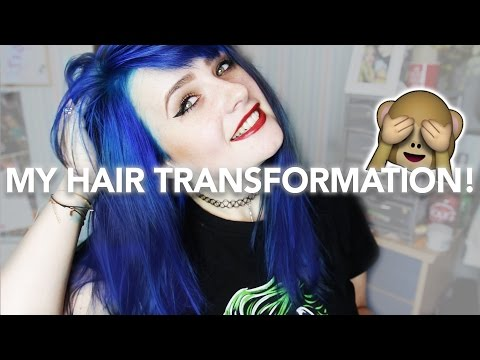 MY NEW HAIR TRANSFORMATION // DYING MY HAIR BLUE!!
