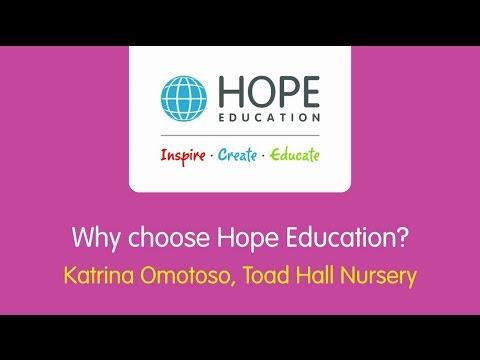 Toad Hall Nursery, Surrey - Why choose Hope Education?