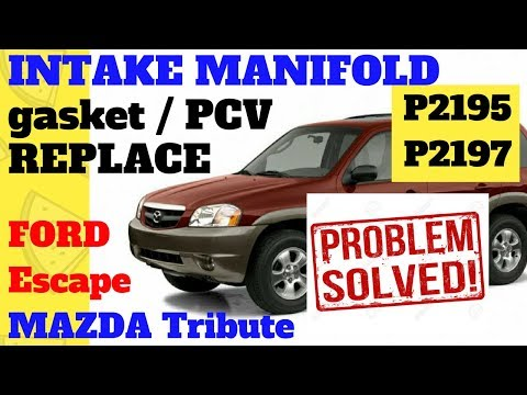 DIY Intake Manifold gasket and PCV replace Mazda Tribute Ford Escape 1080p HD