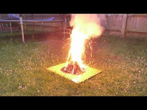 Volcano model with real-fire eruption - Year 4 science project - Part 2
