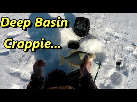 Ice Fishing Crappie - Searching The Deep Basin For Slab Crappie
