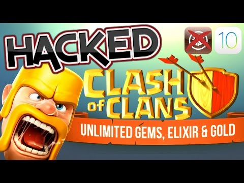 HACKED CLASH OF CLANS!!(Unlimited Gold,Gems And Elixir) For iPhone,iPad And iPod Touch.