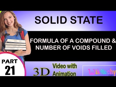 formula of a compound and number of voids filled solid state class 12 chemistry subject cbse