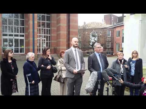 Families speak out after the sentencing outside Stafford Crown Court