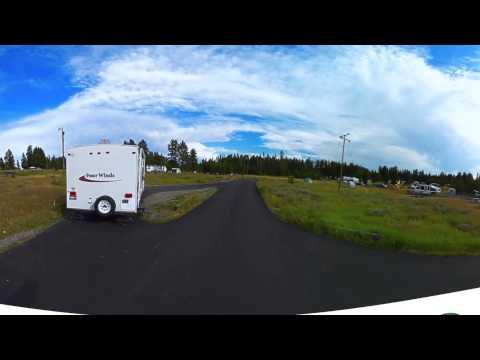 Bridge Bay Campground Yellowstone National Park 360VR 4K Virtual Reality Tour