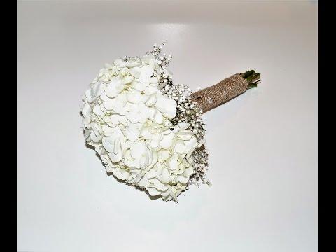 DIY wedding decoration tutorial | How to make a hydrangea bride bouquet | Sugarella Sweets Party
