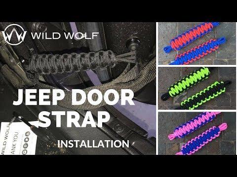 Jeep Door Limiting Straps Installation - Paracord Door Stops