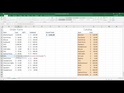 Easy Excel - Create a Simple Order Form (30)