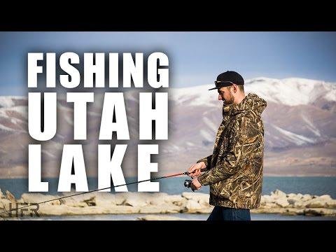 SLOW day fishing at UTAH LAKE ...