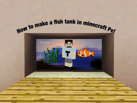 How to build a fish tank in minecraft pe!