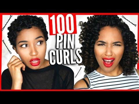 100 Pin Curls Challenge! Insane Heatless Curls?! | Lana Summer