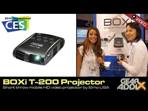 Boxi T-200 Short Throw Projector by Elmo USA (CES 2014)