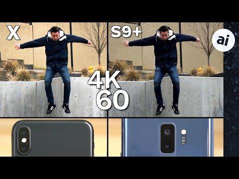 iPhone X vs S9 Plus Video Comparison - Low Quality 4K 60 on S9?!