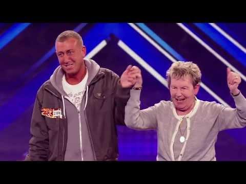 The X Factor UK 2012 Incredibly Nervous Man Blows Audience Away