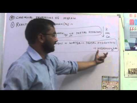 Chemical properties of Metals reaction with hydrogen