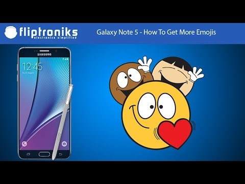 Galaxy Note 5 - How To Get More Emojis - Fliptroniks.com