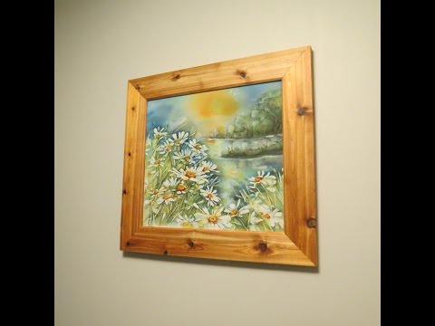 How to make simple picture frame