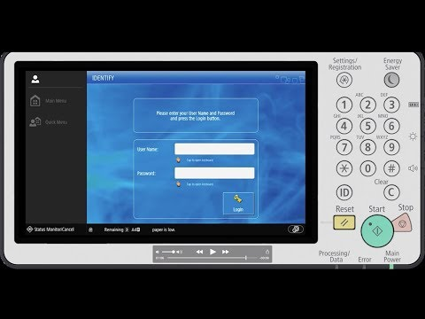 Third Generation imageRUNNER ADVANCE How To Video - Activate ULM