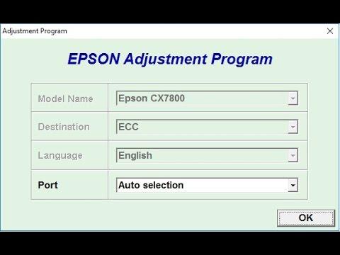 Reset Epson CX7800 - Free