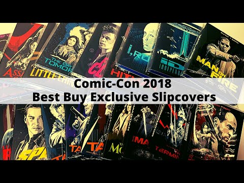 Showing off new Fox Blu-ray slipcovers from Best Buy