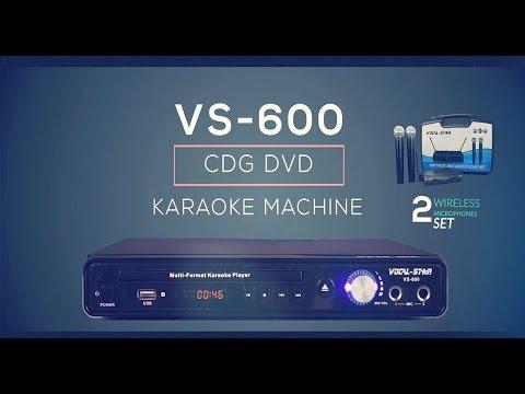 VS-600 Karaoke Machine CDG/CD/DVD Player with Wireless VHF Mics Overview (e)