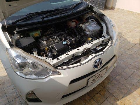 Toyota Aqua/Prius C Engine Wash with Water in URDU/HINDI