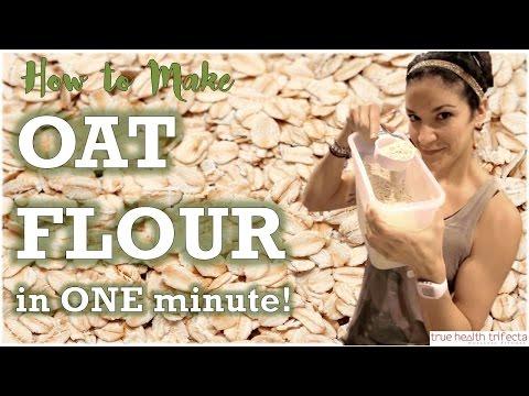 How to make OAT FLOUR in One Minute! - Semi-Ground Oats / DIY / Food Hack / Vegan / Gluten Free
