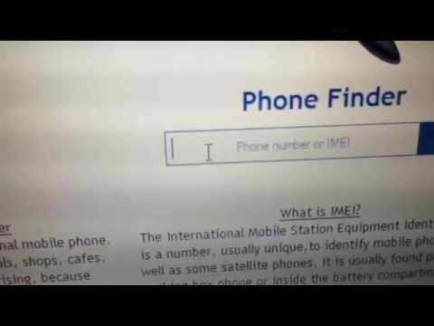 Find stolen phone by IMEI number