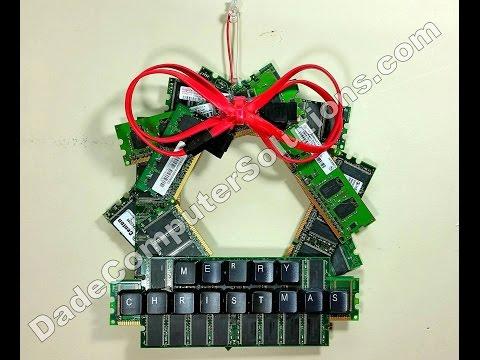 Christmas Wreath made of Computer Memory Sticks