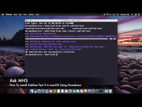 How To Install Sublime Text 3 Using Homebrew in macOS