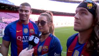 WWE stars Jason Jordan, Chad Gable, Carmella visits Camp Nou