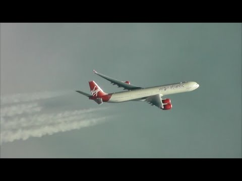 Mid-Atlantic Race!!! Virgin Atlantic A340 vs Norwegian 787 Dreamliner