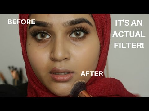 Huda Beauty Foundation Review , Swatches and Demo On Medium /Brown /Indian skin 340G