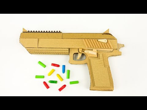 DIY Desert Eagle Model from Cardboard