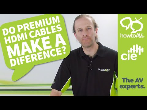 Do Premium HDMI cables make a difference?