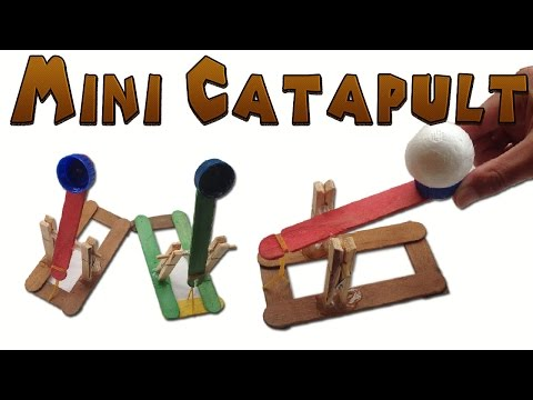 How to Make a Mini Catapult Easy (Medieval Toy )