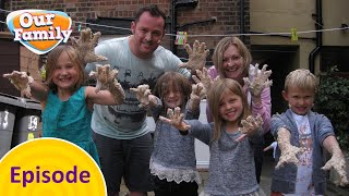 Gracie and Myla's Messy Challenge   Our Family FULL EPISODE