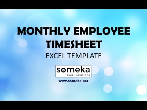 Monthly Employee Timesheet for 2017 - Free and Printable Excel Template