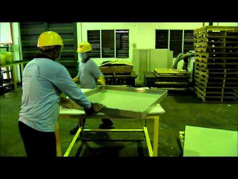 The Making of FRP/GRP Water Tank using SMC Hot Press - KK Composite Technology