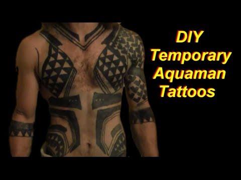 DIY Aquaman Cosplay Tattoos (Temporary) and Pants