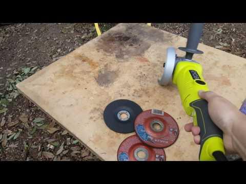 Ryobi angle grinder 4 1/2 inch metal cutter