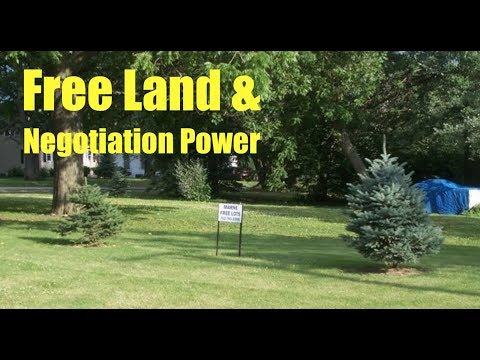 Free Land - Marne, Iowa - Building Codes and Negotiation Power